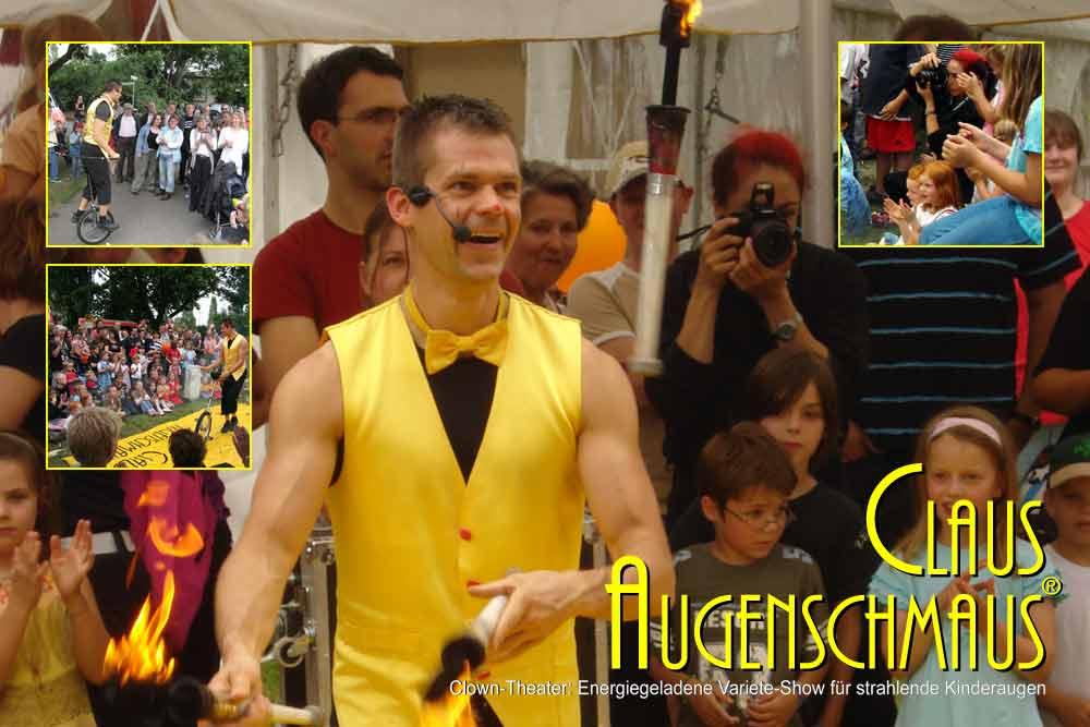 Clown Programm für Firmenfeier, Sommerfest, Straßenfest